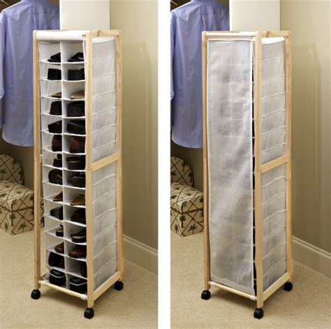 rolling portable shoe tower organizer by collections etc