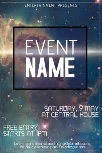 event flyer design templates galaxy event flyer template postermywall