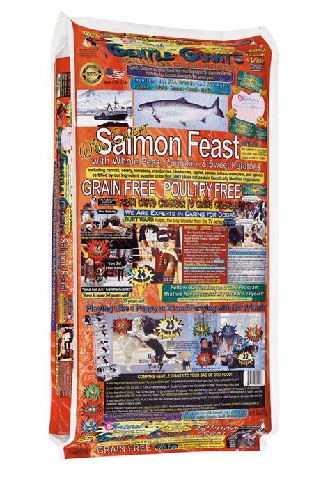 gentle giants food gentle giants medium food grain free with salmon fruits