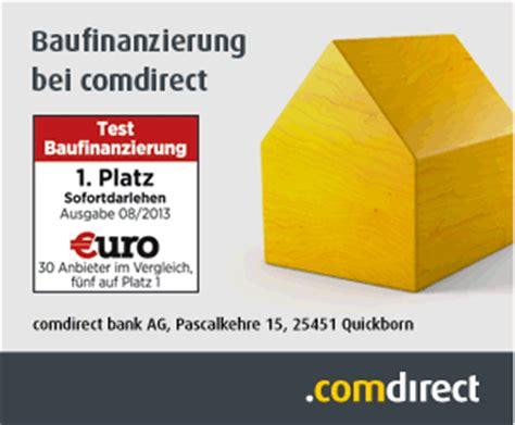 baufinanzierung welche bank baufinanzierung comdirect bank beste bauzinsen