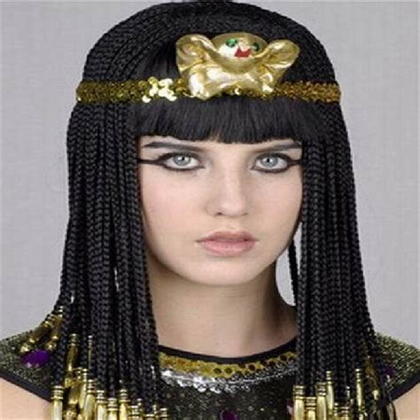information on egyptain hairstlyes for and egyptian cleopatra high quality straight long black braid