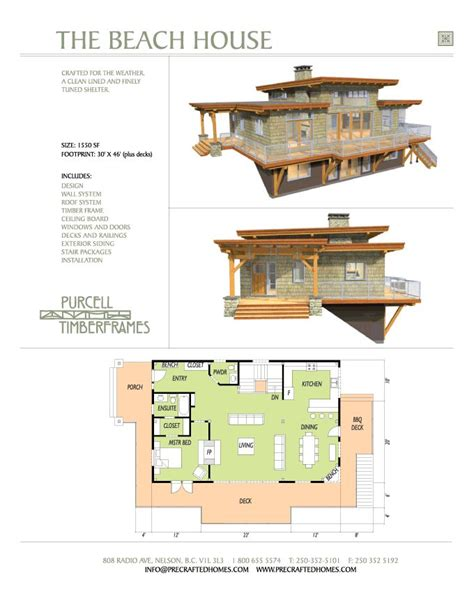 house plans beach purcell timber frames prefab home packages the beach