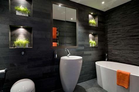 Spiegel Für Toilette by Luxus Badezimmer Schwarz Gispatcher