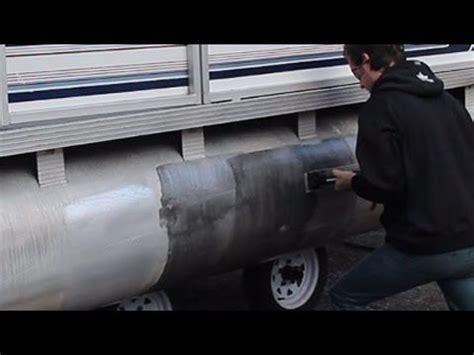 how to restore aluminum pontoons youtube boating aluminum boat pontoon boat boat projects