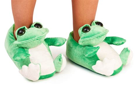 frog slippers for adults womens boys novelty plush slippers boots frog