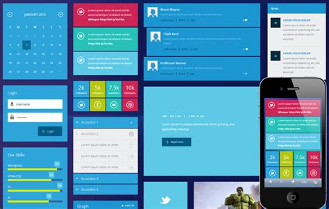 10 premium ui kits website template html5 css3 free download