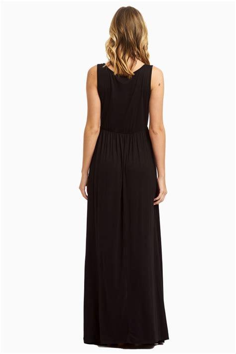 Basic Maxy black basic maxi dress