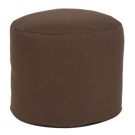 tall pouf ottoman tall pouf sterling chocolate howard elliott