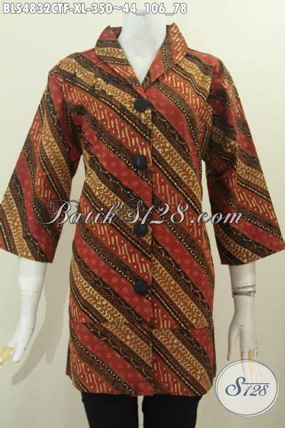 Blouse Motif Atasan Wanita Muslim Tunik Royal Puff blus batik ukuran collar blouses