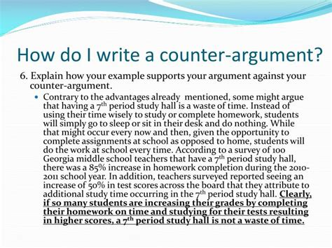 How Do I Write An Argumentative Essay by How To Write Counter Argument In Es