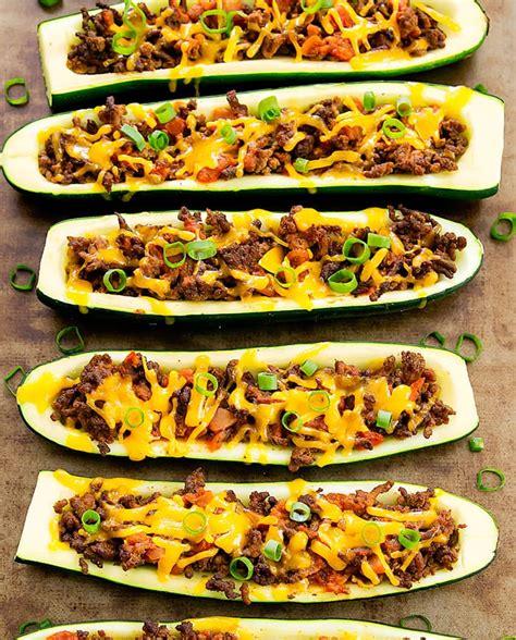 beef taco boats recipe taco zucchini boats kirbie s cravings