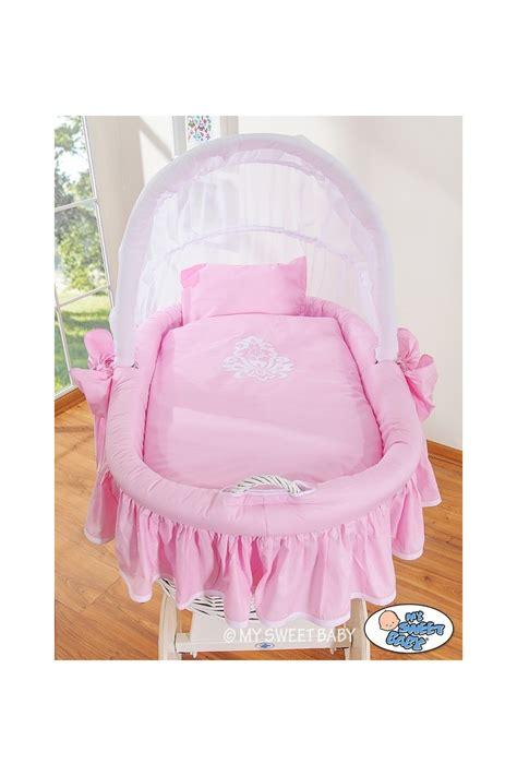 neonato in vimini neonato rosa bianco