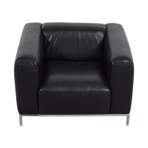 west elm chair with ottoman 84 off west elm west elm black leather accent chair