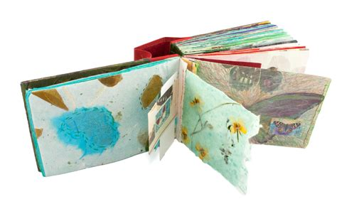 Handmade Paper Sketchbook - sketchbook page with handmade paper chewing with the
