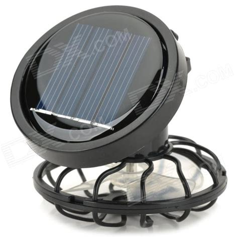 fashion solar powered cooling fan for hats caps black