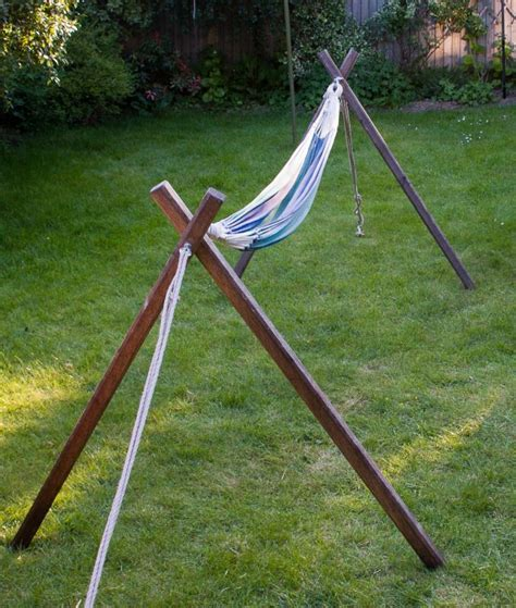Hammock Stand how to make a free standing hammock stand bushcraft days