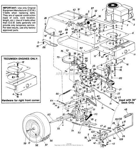 mtd lawn mower wiring diagram 2005 mtd free engine image
