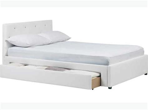 Hygena Imelda Small Double Bed Frame White Bilston Dudley Small Bed Frame White