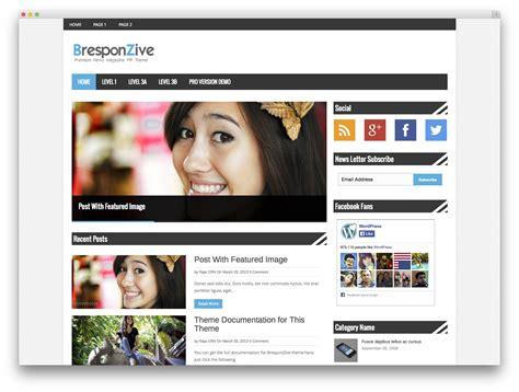 wordpress themes newspaper style free 30 best free responsive magazine wordpress themes 2017