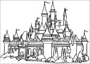 castle of color princess coloring pages