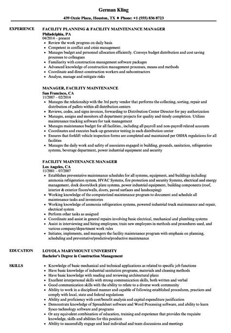 Maintenance Supervisor Resume Sample Templates Custodial Standart