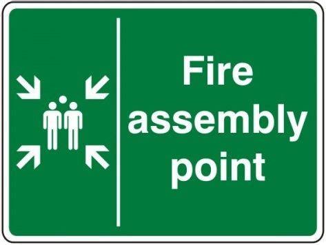 Safety Sign 3m Assembly Point Titik Kumpul drill evacuation visit