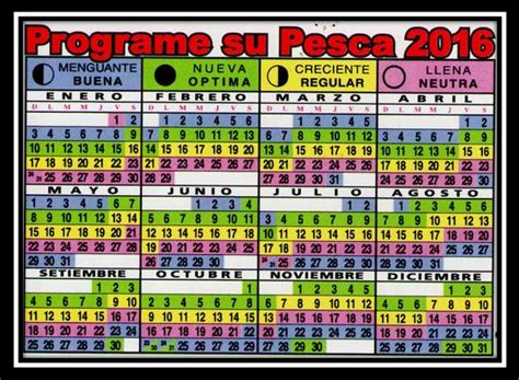 Calendario Lunar Para La Pesca 2016 | calendario lunar de pesca 2016 pescador deportivo