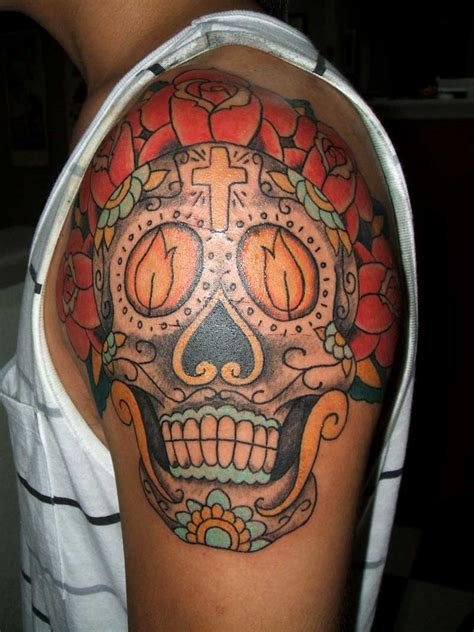 sugar skull tattoo for men tattoos for
