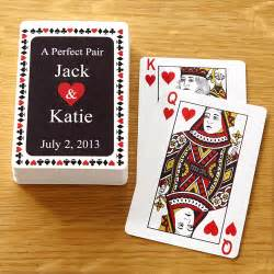 personalized quot a pair quot deck of cards personalized