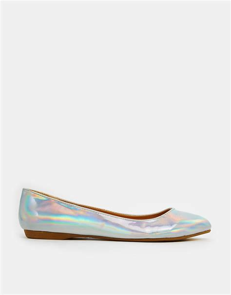 flat shoes new look new look new look koinery irredescent ballerina flat
