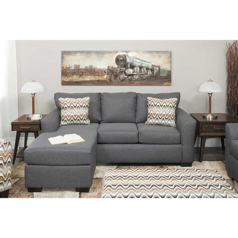 Grey Sofas by Ryleigh Grey Sofa With Chaise D1 3903s Affordable