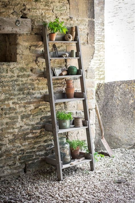 Planter Shelves by 10 Easy Pieces Stepladder Plant Stands Gardenista
