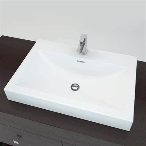 lowes bathroom countertops with sinks cantrio koncepts mma 2516 solid surface countertop sink