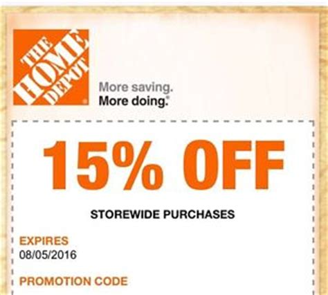 home depot and lowes coupons coupon codes