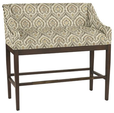 Ballard Designs Outdoor Furniture marcello counter bench with antique brass nailheads