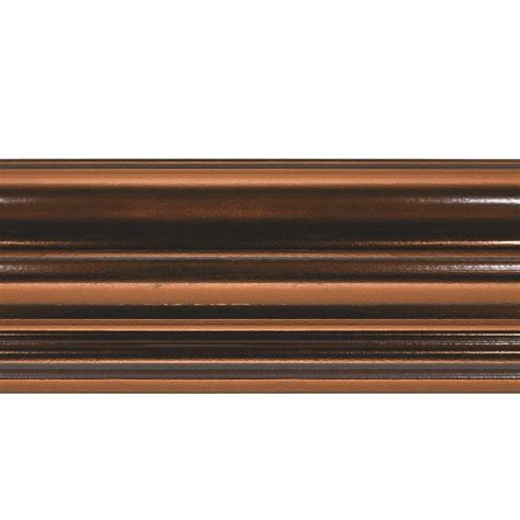 decorative crown moulding home depot fasade classic 0 75 in x 6 125 in x 96 in poplar crown molding in oil rubbed bronze 175 26