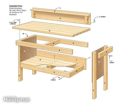 free plans for woodworking bench pdf plans plans diy workbench download free plywood