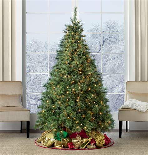searscom white christmas tree 6 5 pre lit westchester deluxe pine tree sears