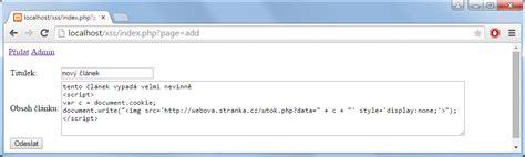 xss attack tutorial php obrana proti 250 toku xss v php