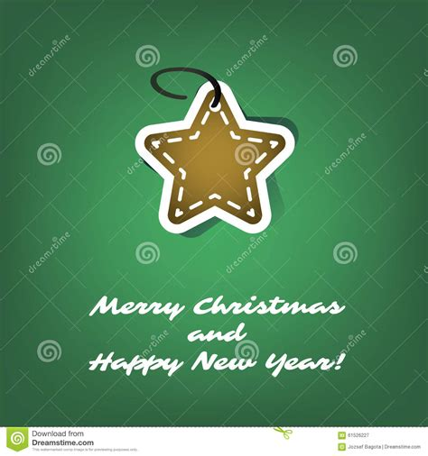 merry and happy new year card template card or cover template design with gingerbread