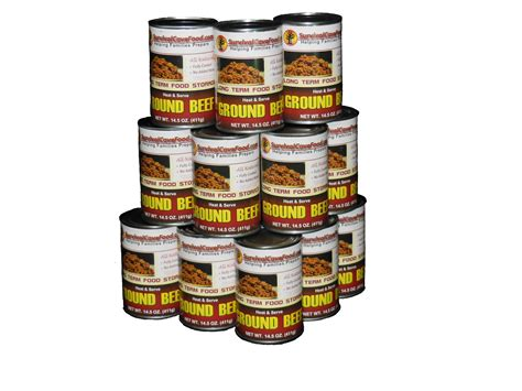Shelf Of Ground Beef by Canned Ground Beef Food Storage 12 Cans 14 5 Oz Lpc Survival