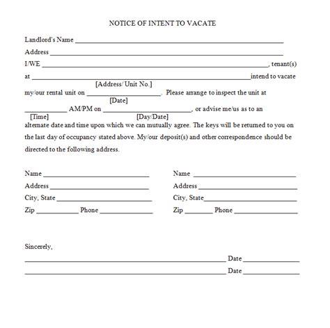 sample notice form