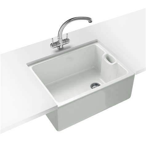 franke kitchen sinks franke belfast propack bak 710 ceramic white kitchen sink and tap 130 0050 116