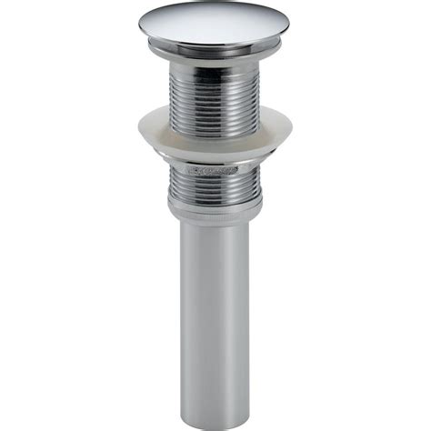 delta bathtub drain delta push pop up drain assembly in chrome with less