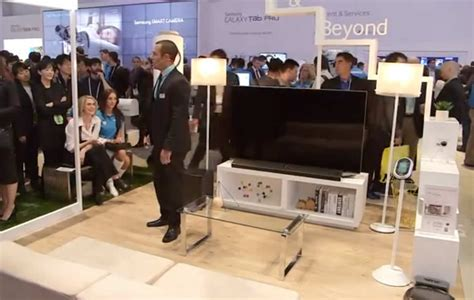 samsung smart home demo at ces home automation aging in