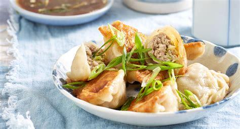 pork  cabbage dumplings recipe  homes  gardens