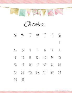 printable october  calendar customize