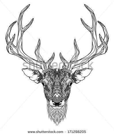 Stag Horn Chandelier Stock Images Similar To Id 161175362 Silhouettes Of