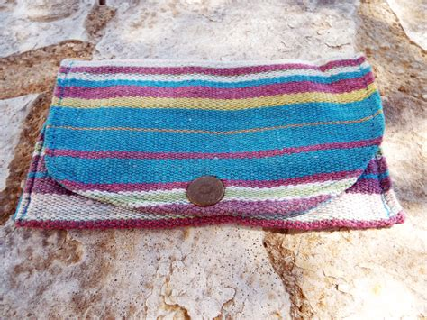 tobacco pouch cotton handmade fabric pocket stitched