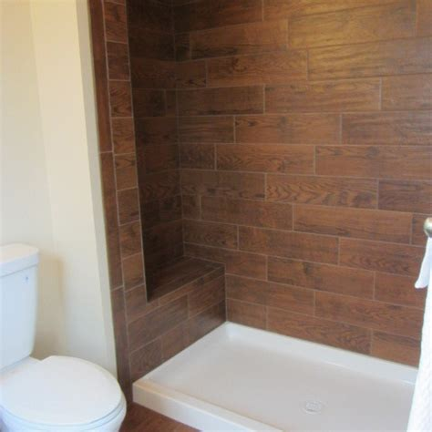 bathroom with wood tile wood tile bathroom traditional bathroom philadelphia